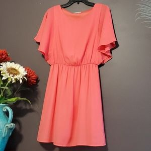 GB Butterfly Sleeves Coral Dress. Sz. S